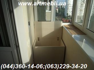 Тумба на балкон (Тумба балконна) ДСП - Еггер Клен канадський кремовий Ящик для картоплі (овочів)