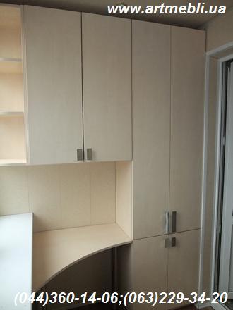 Шафа на балкон (Шафа балконна) Робоче місце, стіл, полиці ДСП - Еггер Береза Майнау