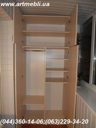 Шафа на балкон (Шафа балконна) ДСП - Еггер Береза Майнау