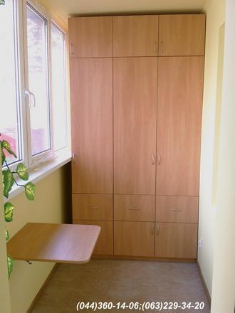 Шафа на балкон (Шафа балконна) ДСП - яблуня світла + столик