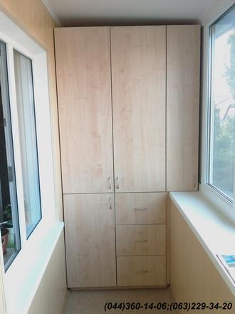 Шафа на балкон (Шафа балконна) ДСП - клен Танзау