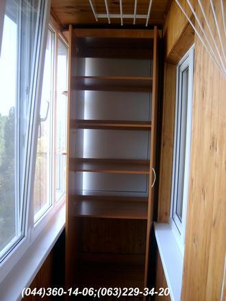 Шафа на балкон (Шафа балконна) ДСП - Вишня Оксфорд