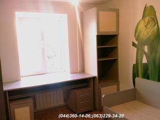 Меблі в дитячу кімнату. Стіл, шафа, ліжко в дитячу ДСП - Алюміній 22 мм
