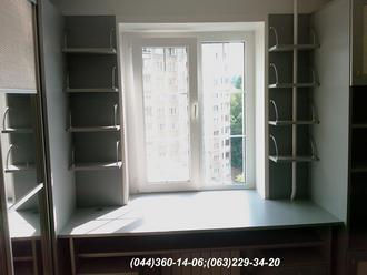 Меблі в дитячу кімнату. Стіл в дитячу ДСП - Алюміній 22 мм