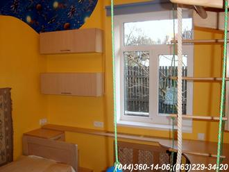 Меблі в дитячу кімнату. Полиці + підвіконня ДСП - Груша Д-401
