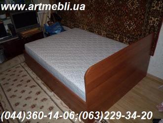 Меблі в спальню.  Ліжко з підйомним механізмом ДСП - Горіх Італійський