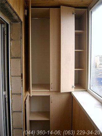 Шафа на балкон (Шафа балконна) ДСП - клен Ванкувер