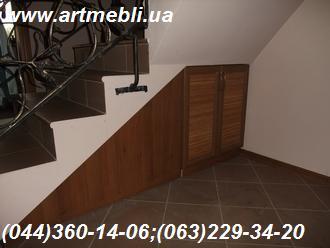 Тумба + двері рамка-горіх, бамбук натуральний