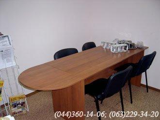 Стіл офісний розкладний ДСП – лісовий горіх
