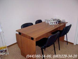 Стіл офісний ДСП – лісовий горіх