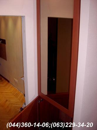 Шафа в коридор ДСП - Яблуня Локарно Фасад – МДФ профіль Яблуня Наповнення – Дзеркало бронза