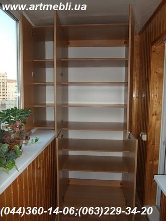 Шафа на балкон (Шафа балконна) ДСП - Еггер Дуб світлий Врізані ручки