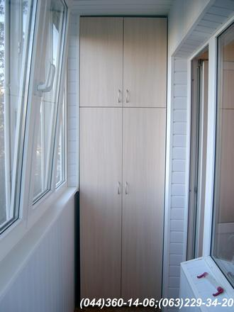 Шафа на балкон (Шафа балконна) ДСП - Дуб молочний