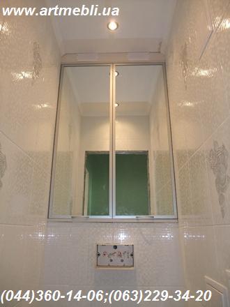 Шафа в туалет (Шафа туалетна) ДСП - Еггер, Фасад - дзеркало